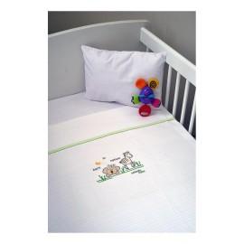 Aslanis Baby Πικέ Κουβέρτα des.504 Κούνιας