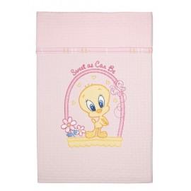 Baby Looney Tunes Κουβέρτα Αγκαλιάς Πικέ des.28