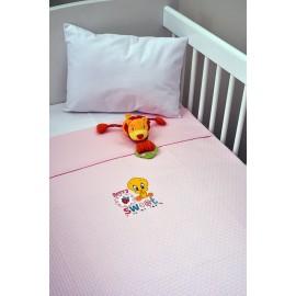 Baby Looney Tunes Κουβέρτα Αγκαλιάς Πικέ des.26