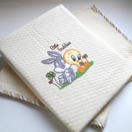 Baby Looney Tunes Κουβέρτα Αγκαλιάς Πικέ des.30b