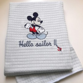 Disney Baby Κουβέρτα Αγκαλιάς Πικέ des.71