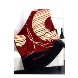 Pierre Cardin κουβέρτα καναπέ des.4061 Ισπανίας Μαύρο-Μπορντώ